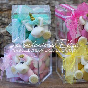 bomboniere battesimo unicorni