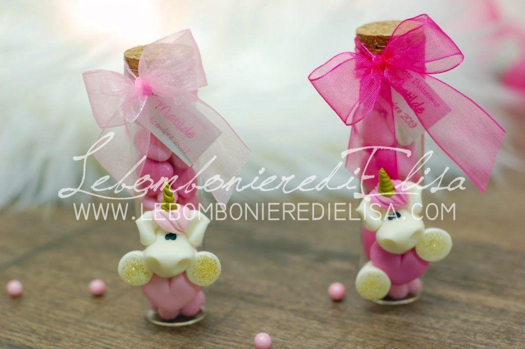 bomboniere unicorno rosa